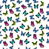 Illustration of a colorful butterfly. Very high quality original trendy vector seamless pattern with colorful butterfly Royalty Free Stock Photo