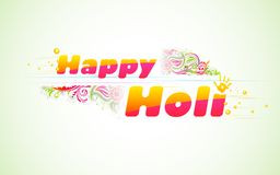 Holi Background. Illustration of colorful color splash in Holi background Stock Photography