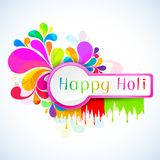 Holi Background. Illustration of colorful color splash in Holi background Stock Photo