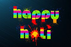 Holi Background. Illustration of colorful color splash in Holi background Royalty Free Stock Photo