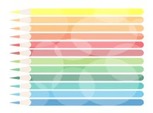 An Illustration of Colorful Colored Pencils Backgr Royalty Free Stock Photos