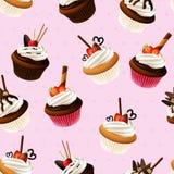 Colorful cupcake background. Illustration of Colorful cupcake background Stock Photos