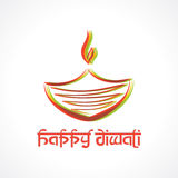 Illustration of colorful diya for  Diwali Royalty Free Stock Photography