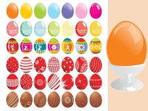 Illustration of colorful easter egg Royalty Free Stock Image