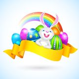 Easter Bunny with COlorful Egg Royalty Free Stock Images
