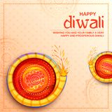 Colorful firecracker on Happy Diwali Holiday background for light festival of India. Illustration of colorful firecracker on Happy Diwali Holiday background for Stock Image