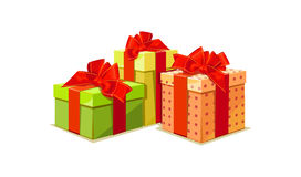 Illustration of colorful gift box Stock Images