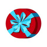 Illustration of colorful gift box. Holiday packaging icon vector illustration