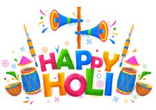 Happy Holi Background for Festival of Colors celebration greetings Royalty Free Stock Photography