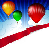Illustration of colorful hot air balloons Royalty Free Stock Image