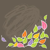 Illustration of colorful leafs. Vector Royalty Free Stock Photography