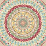 Illustration of colorful mandala. Stock Photo