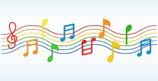 Colorful Music notes. Illustration of Colorful Music notes stock illustration