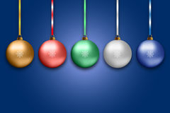 Illustration of colorful new year balls Stock Photo