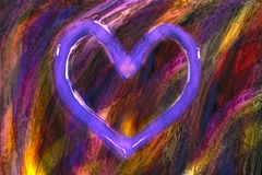 Illustration of colorful paint. Brush strokes and heart royalty free illustration