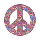 Peace symbol on white background Royalty Free Stock Photo