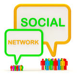 Illustration of Colorful People Network Stock Images