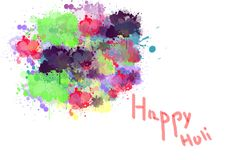 Illustration of colorful promotional background for Festival of Colors celebration called holi.  Stock Photos
