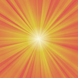 Illustration of colorful rays (yellow, orange, red)  Stock Images