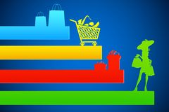 Shopping Background Royalty Free Stock Photos