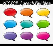 Speech bubbles set. Illustration of colorful speech bubbles set design Stock Images