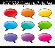 Speech bubbles set. Illustration of colorful speech bubbles set design Royalty Free Illustration