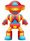 Colorful toy robot cartoon isolated on white background stock illustration