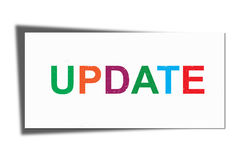 Update sign. An illustration of a colorful update sign on a white background Stock Photos