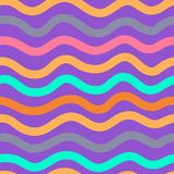 Colorful wave pattern. An illustration of a colorful wave pattern on purple background stock illustration
