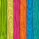 illustration of colorful wooden planks Royalty Free Stock Images