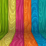 illustration of a colorful wooden room. EPS Royalty Free Stock Photography