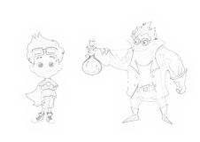 Illustration: Coloring Book Series: Crazy Doctor Father and Super Son. Royalty Free Stock Image
