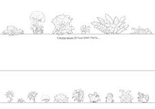 Illustration: Coloring Book Series: Exotic Plants. Soft thin line. Royalty Free Stock Images