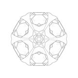 Illustration: Coloring Book Series: Pack of Diamonds Flower. Stock Photos