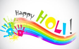 Colorful Rainbow in Holi Wallpaper Royalty Free Stock Photos