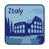 Illustration with Colosseum in Rome Royalty Free Stock Photos