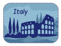 Illustration with Colosseum in Rome Royalty Free Stock Images