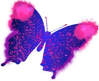 Illustration of colourful painting butterfly Royalty Free Stock Photos