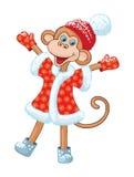 Illustration of comical monkey Royalty Free Stock Photos
