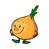 Illustration of a comical onion vector illustration