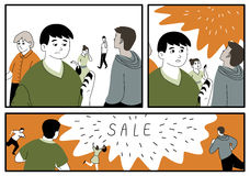 Illustration in comics style about closeout Royalty Free Stock Image
