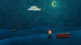 Illustration comique de nuit Image libre de droits