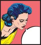 Illustration comique de vecteur d'amour de rétro femme illustration stock