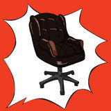 Illustration comique de vecteur de style de bureau d'art de bruit Image stock