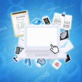 Illustration of communication technologies Royalty Free Stock Photo