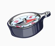 Illustration of a compass Royalty Free Stock Images