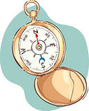 Illustration of compass Stock Images