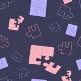 Illustration Components Puzzle on Dark Background vector illustration