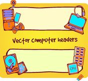 Illustration of computer headers. For web design Royalty Free Stock Image