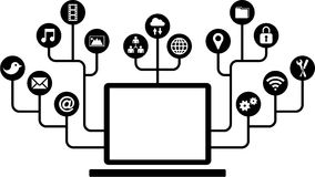 Computers function icons vector illustration